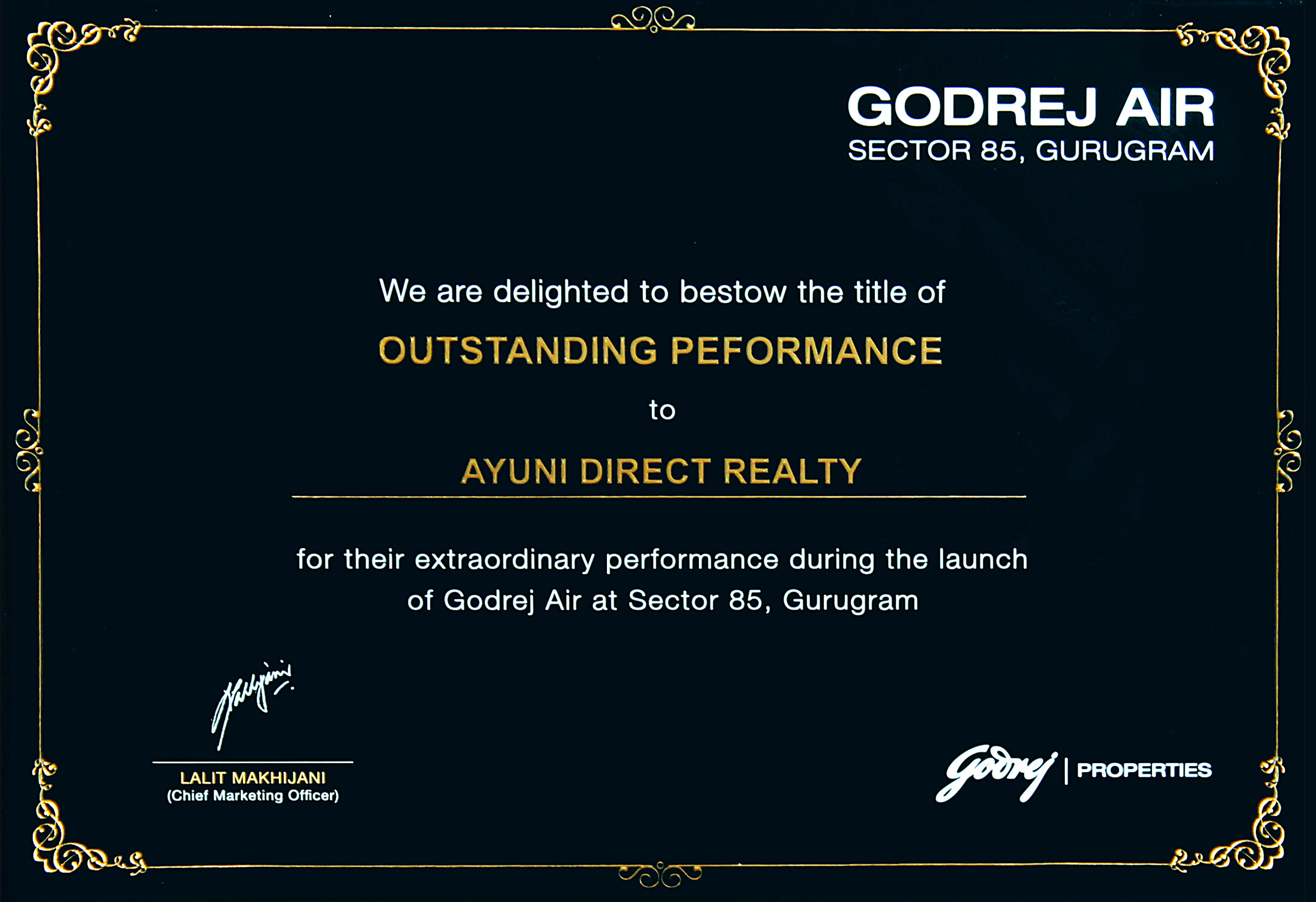 Godrej Air - Outstanding Performance