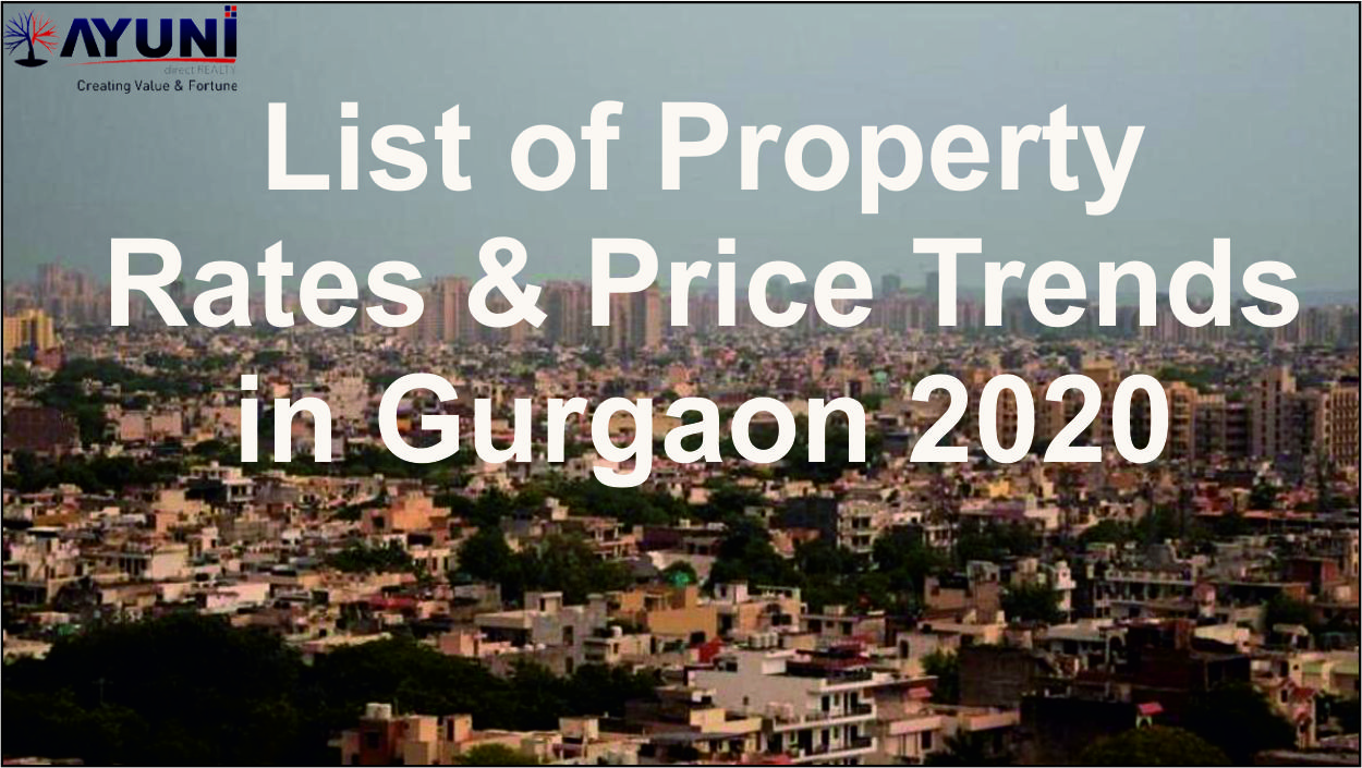 List of Property- Rates & Price Trends in Gurgaon 2020